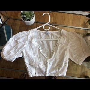 Tobi Puff Sleeved Crop Top | Size S